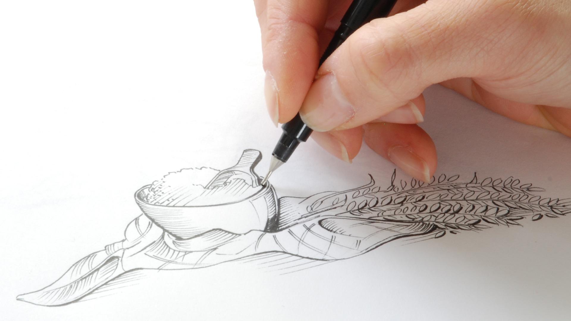 sketching at slice packaging design agency